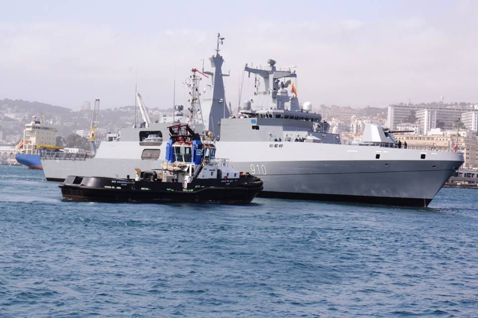 Arrival ceremony of the first algerian Meko-200 frigate