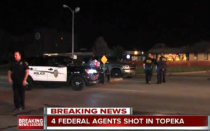 Federal agents shot in incident at Kansas motel