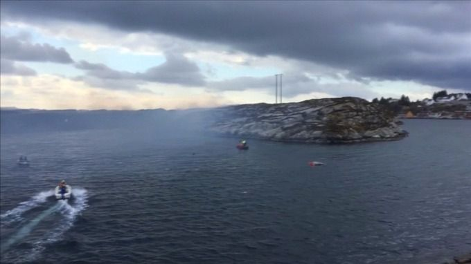 'No sign of survivors' after helicopter carrying 13 people including one Briton crashes in Norway