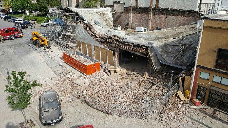 Building constructed in 1880s in Kansas City suburb of Liberty collapses