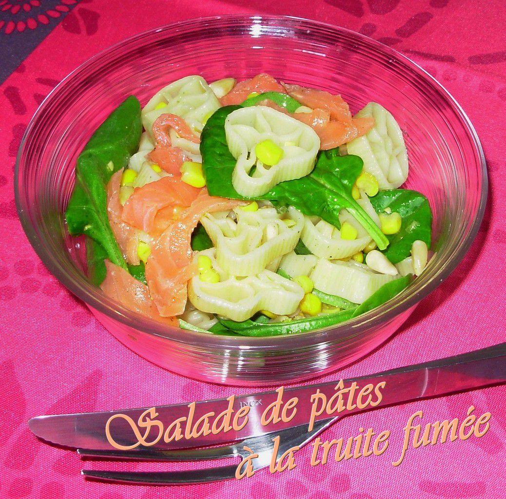 Salade de pâtes à la truite fumée