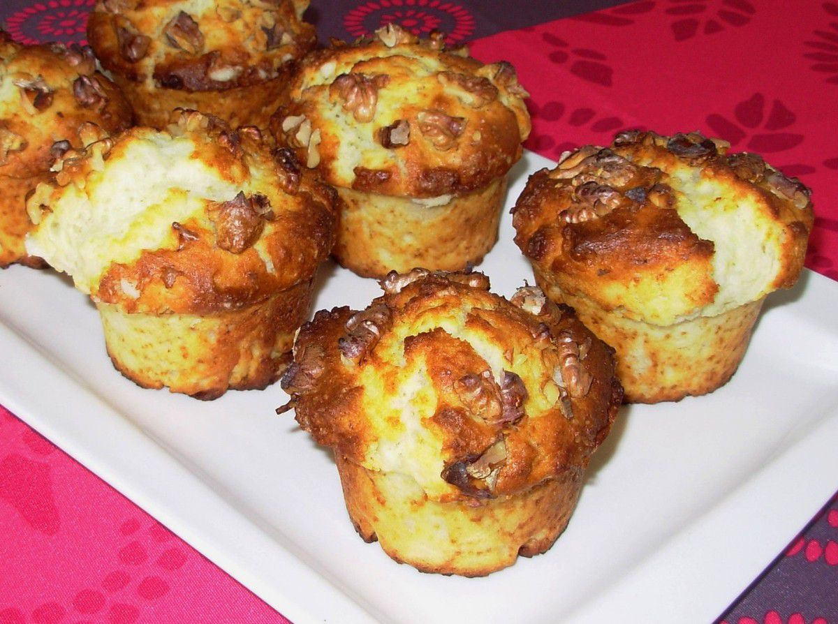 Muffins cheesecake aux noix