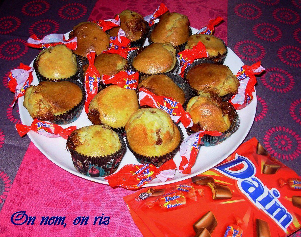 Muffins au lait concentré sucré et aux Daims