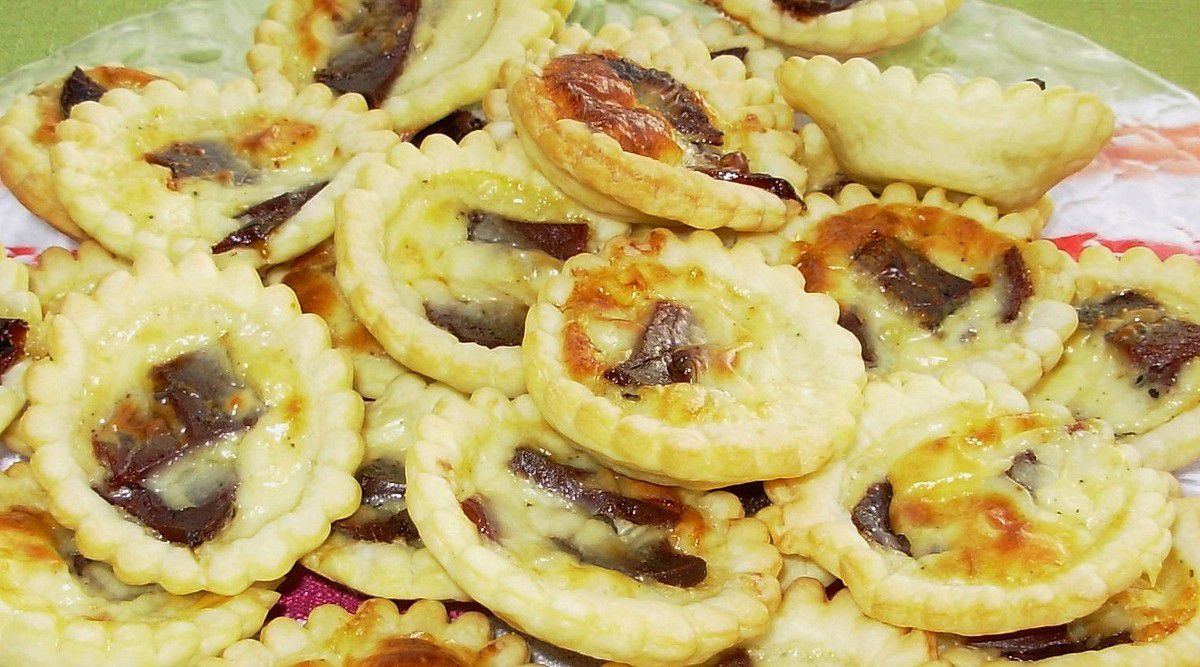 Mini-quiches brebis-magret fumé