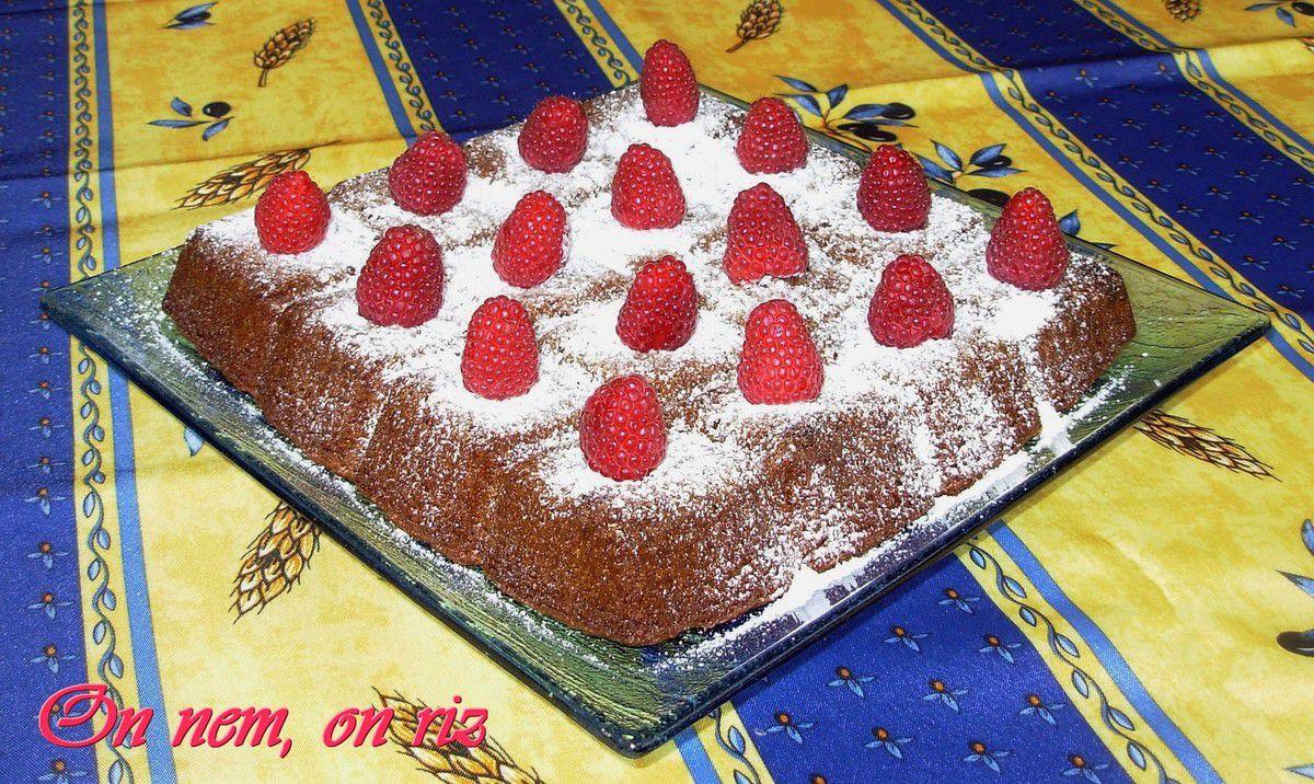 Brownie au chocolat blanc, cannelle et noix de pécan