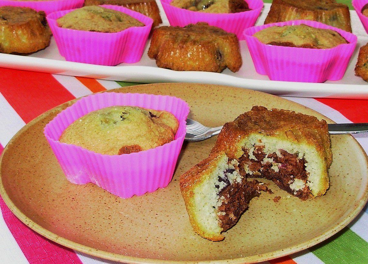 Cupcakes marbré chocolat-vanille aux cerises
