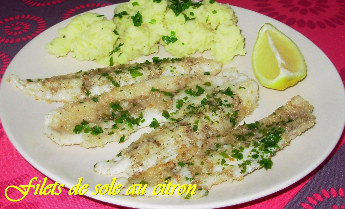 Filets de sole au citron