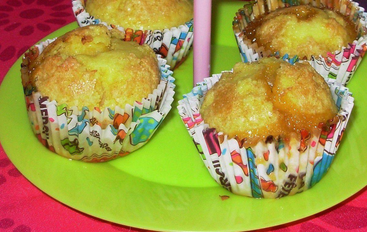 Muffins au coeur de caramel beurre salé
