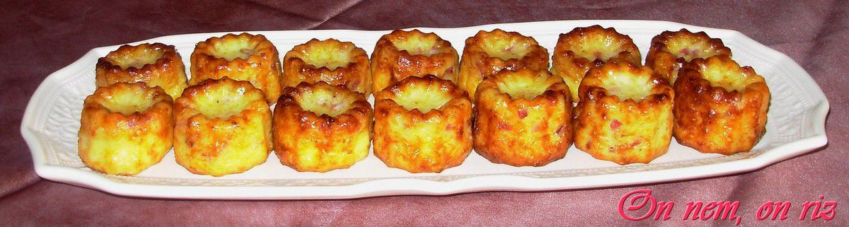 Cannelés bacon-emmental