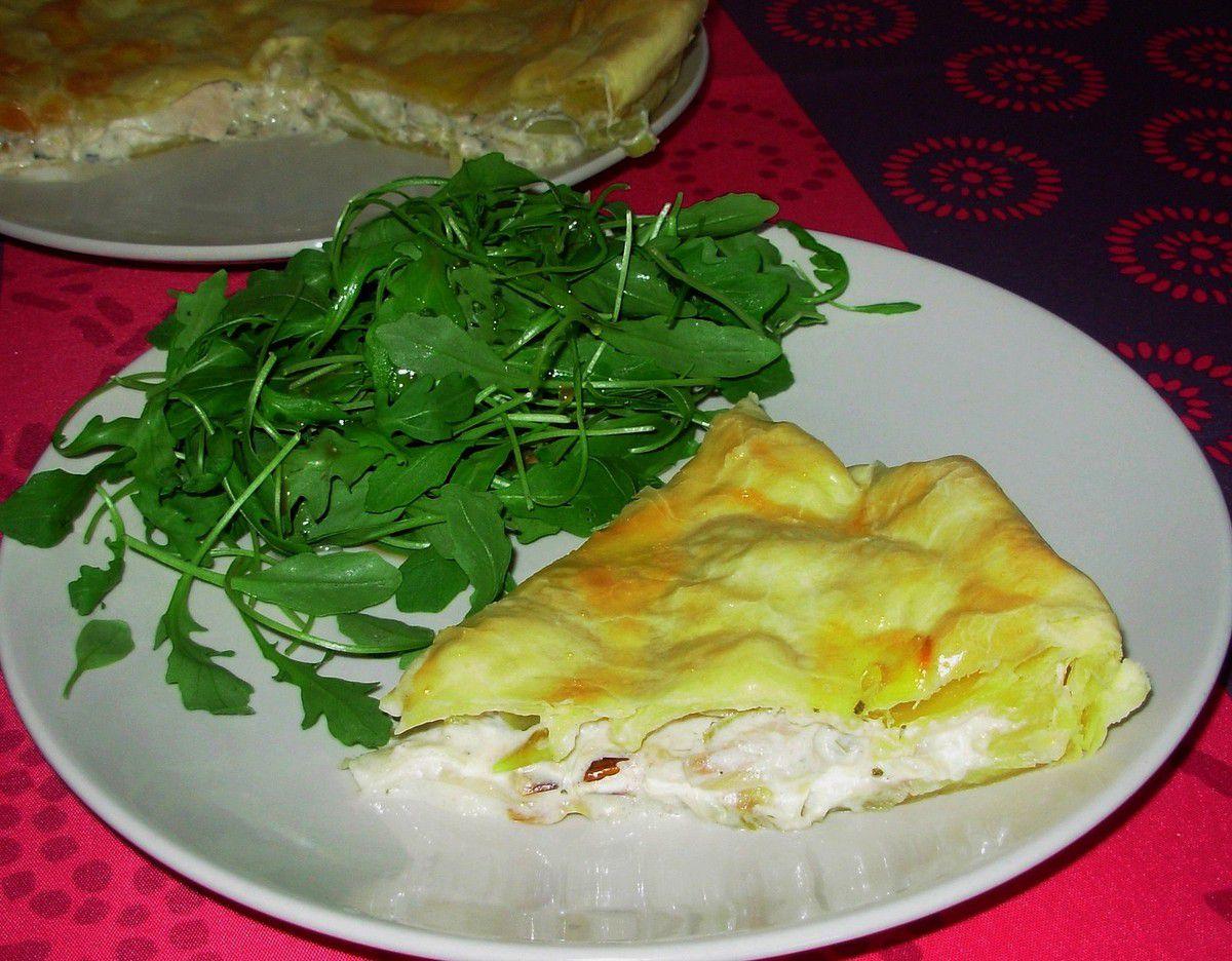 Tourte aux poireaux, poulet et Boursin ail et fines herbes