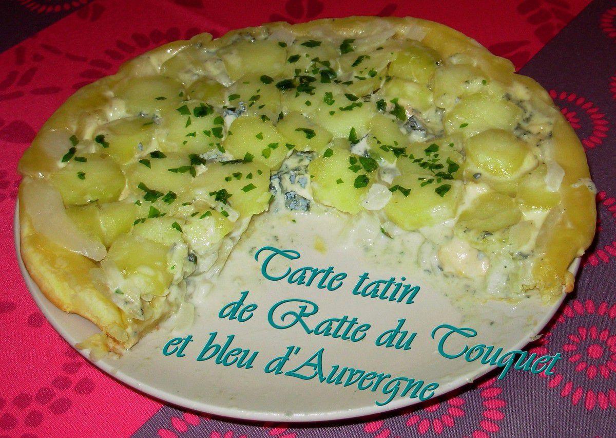 Tarte tatin de Ratte du Touquet et bleu d'Auvergne