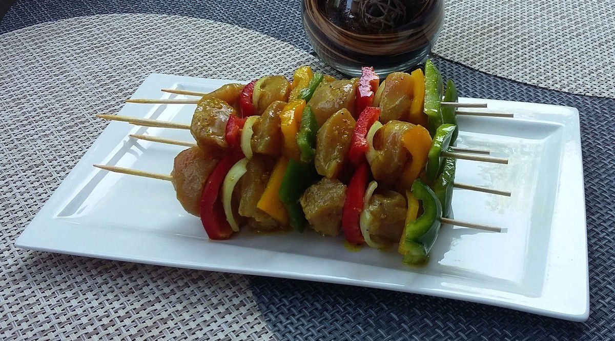 Marinade au curry (pour brochettes)