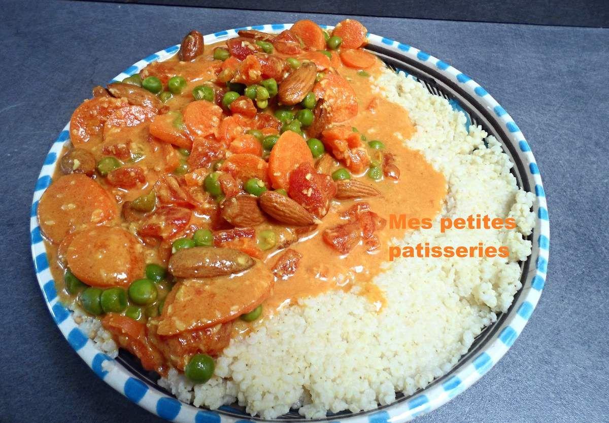 Curry de légumes et millet