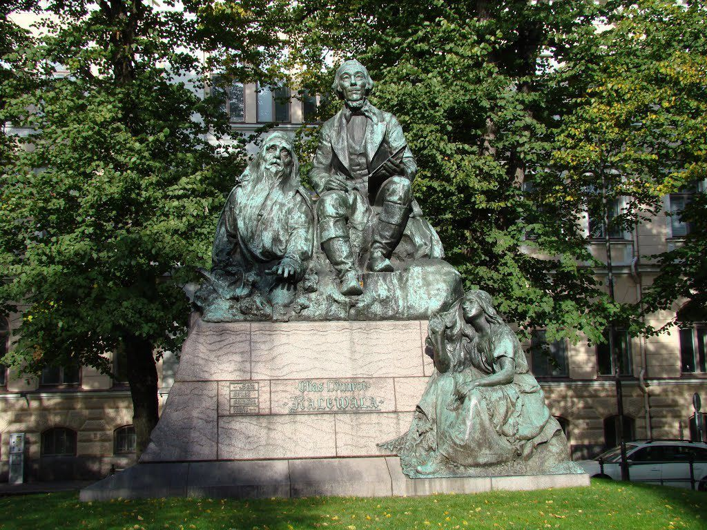 Mémorial Elias Lonnröt et Kalevala à Helsinki. (Photo: Source Internet. Libre de Droit)
