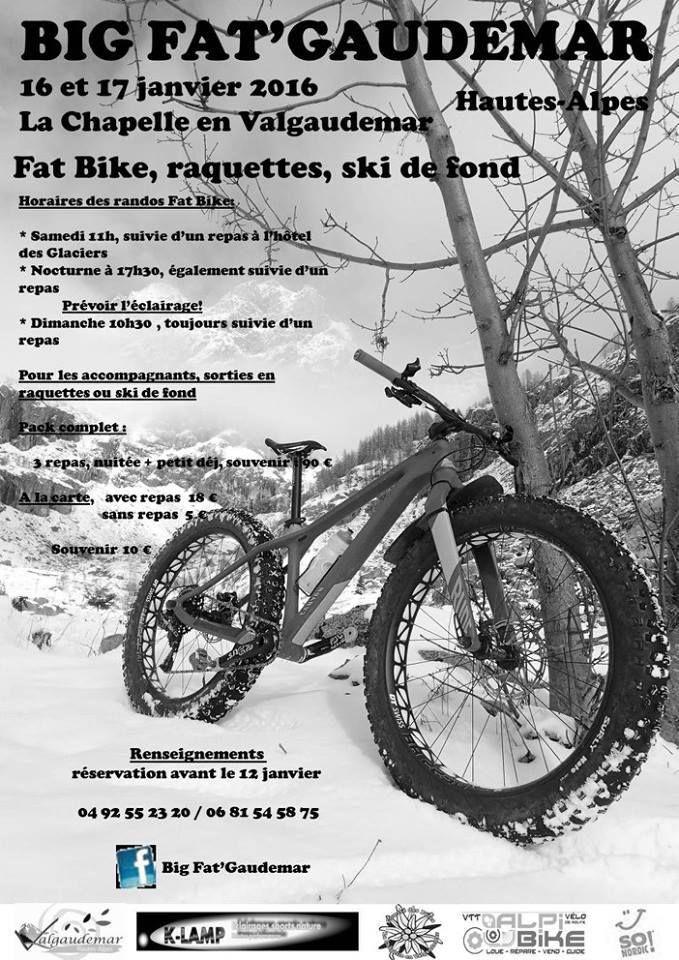 Randonnée FAT BIKE (1ère édition) à Chapelle-en-Valgaudémar 2016