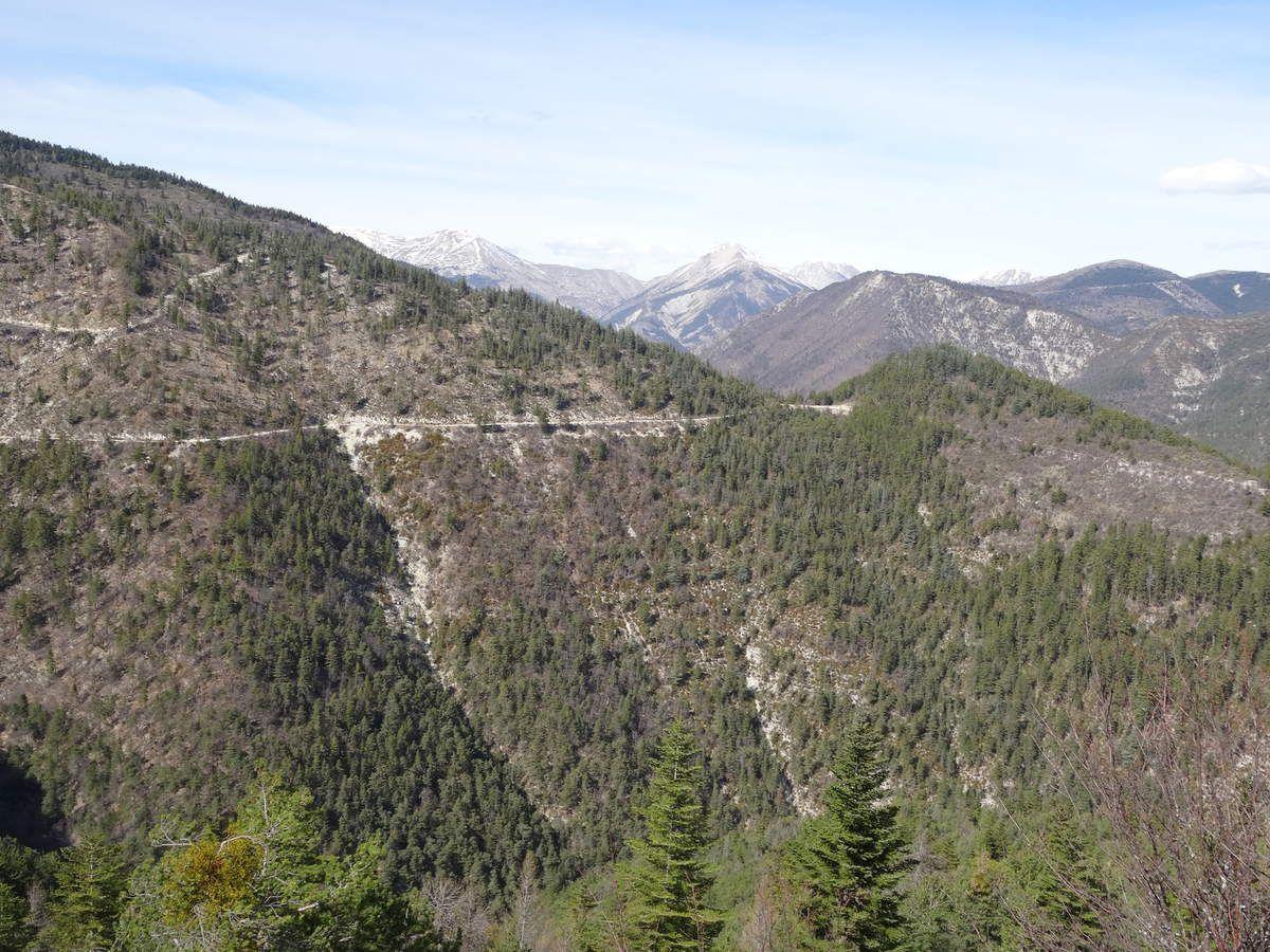 Week-end à St André-les-Alpes : parcours VTT n°14 &quot&#x3B;de Maurel au Chalvet&quot&#x3B; (19 mars 2017)