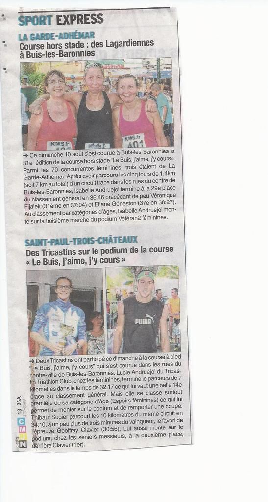 Article presse Buis les Baronnies