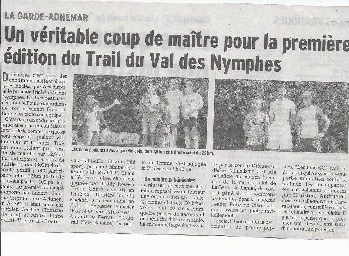 Article de presse Dauphiné Liberé et Tribune