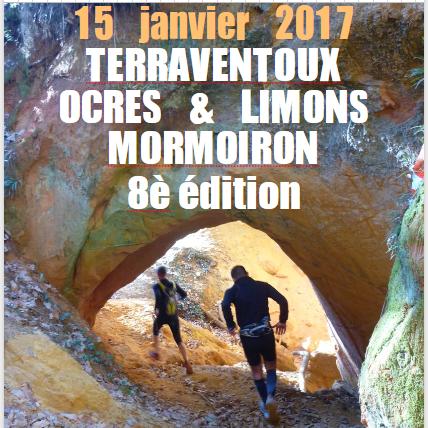 Trail ocres et limon Mormoiron 2017
