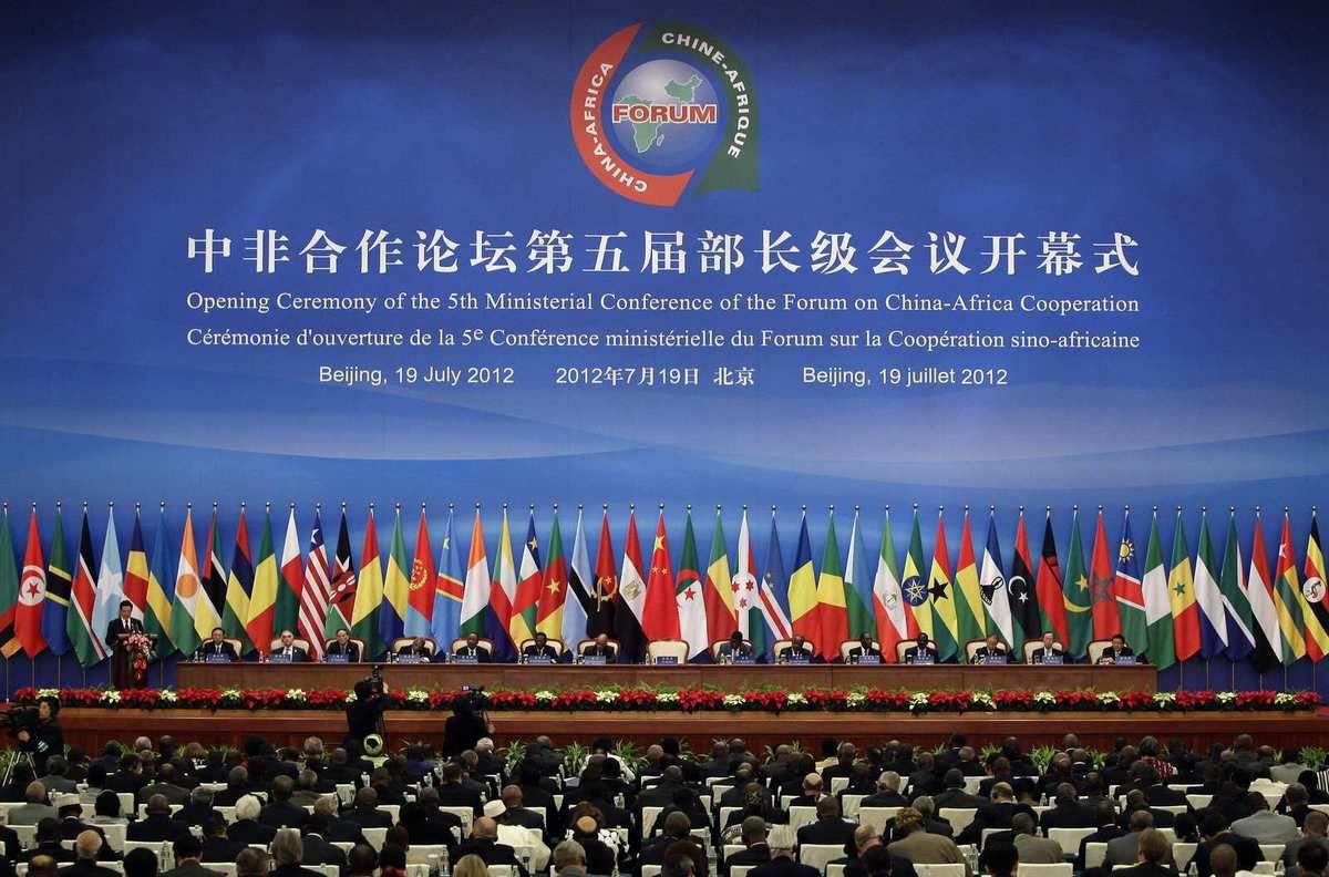 Lors de la conférence  CHINE- Afrique , Premier ministre Li Keqiang