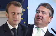 Les ministres de l'Economie français et allemand, Emmanuel Macron et Sigmar Gabriel. (Reuters)