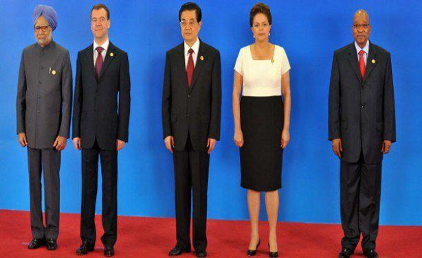 Chefs d'Etats constituant les BRICS dont le président sud-africain Jacob ZUMA ; photo South African Government
