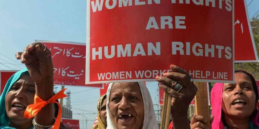 Une manifestation lors de la journée internationale des droits des femmes à Lahore, le 8 mars 2014.