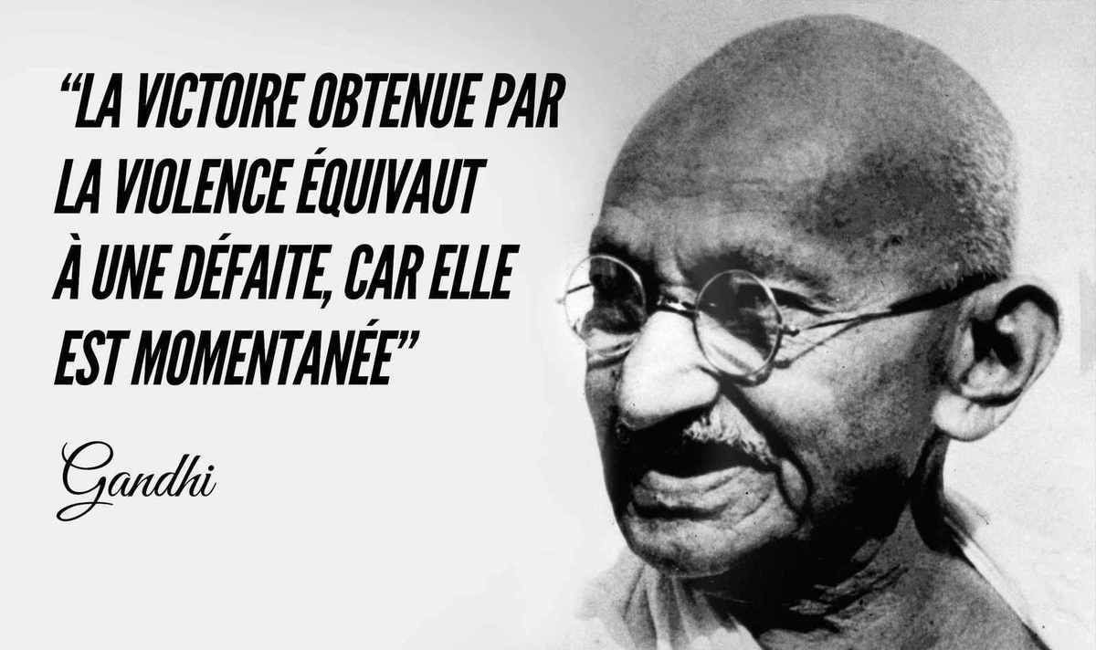 Top 50 des citations de Ghandi