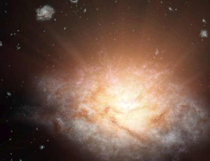 Des chercheurs découvrent la galaxie la plus lumineuse jamais détectée