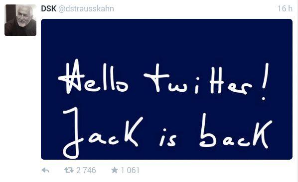 DSK fait son grand retour... sur Twitter