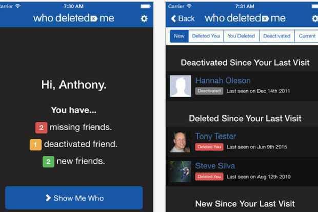 Cette application permet de savoir qui vous a supprimé de Facebook