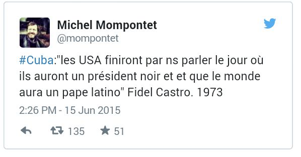 La surprenante prédiction de Fidel Castro