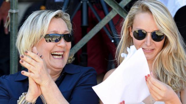 Marine Le Pen s'invite à la fête de Marion: coup de force ou soutien?