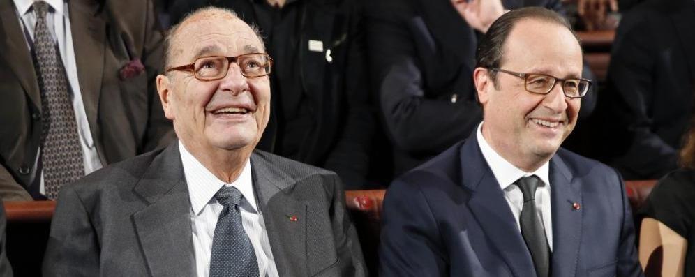 François Hollande rend une visite discrète à un Jacques Chirac très affaibli
