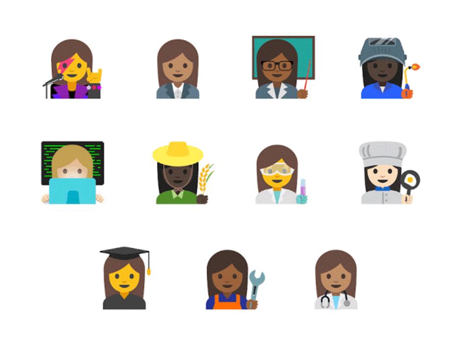 Les emojis femmes sont des princesses qui ne travaillent pas