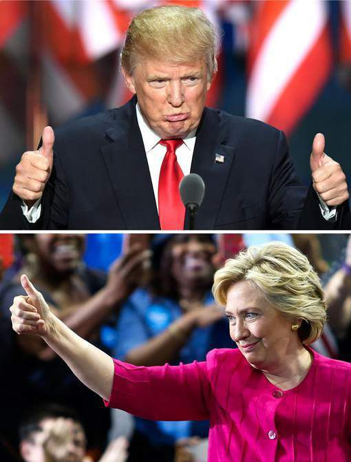 Clinton devance Trump de 7 points dans un sondage
