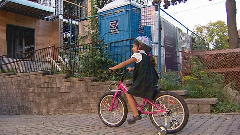 Toronto family lives next to porta-potty for 2 years, city says it can't help