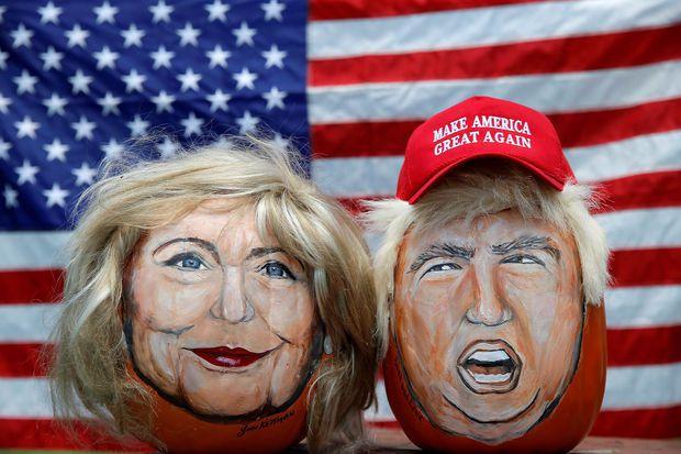 Trump et Clinton au coude à coude dans un sondage