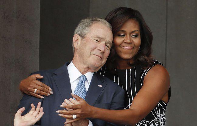 VIDEO. Quand Michelle Obama fait un câlin à George W. Bush