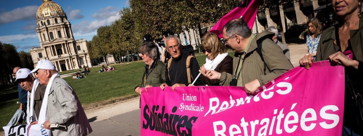 Les retraités dans la rue pour demander une revalorisation de leurs pensions