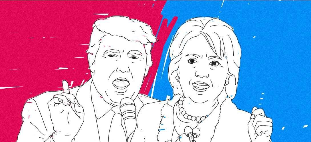 Quels sont les mots les plus utilisés par Donald Trump et Hillary Clinton?