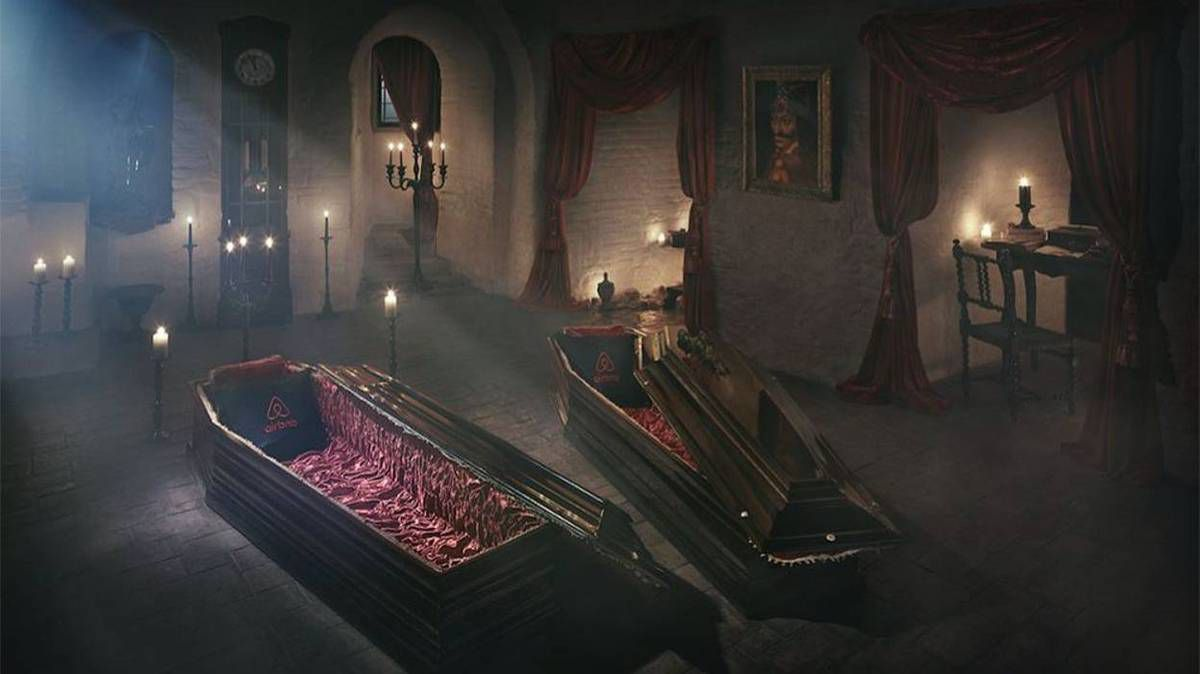 La dernière offre commerciale d'Airbnb : dormir dans un cercueil pour Halloween