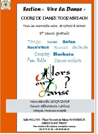 LA SECTION DANSE REPREND SES COURS LE 20 SEPTEMBRE A 17H00