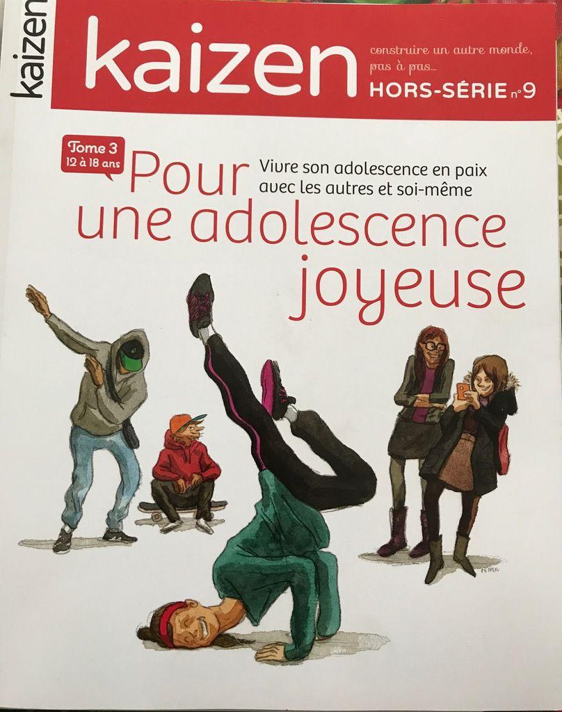 La parentalité positive pour les parents d'adolescents aussi,  mon itv de quatre pages dans le magazine KAIZEN