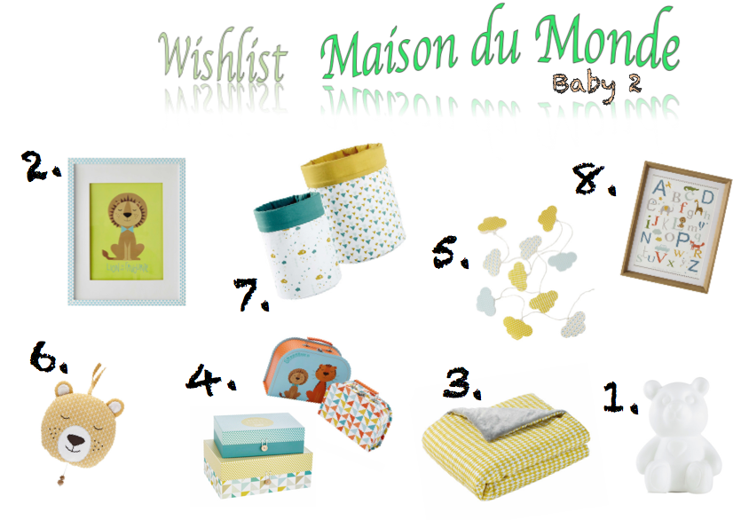 wishlist maison du monde for baby 2 les d couvertes de lorette. Black Bedroom Furniture Sets. Home Design Ideas