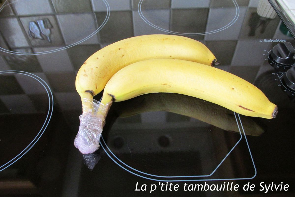 Bananes après 8 jours d'achat