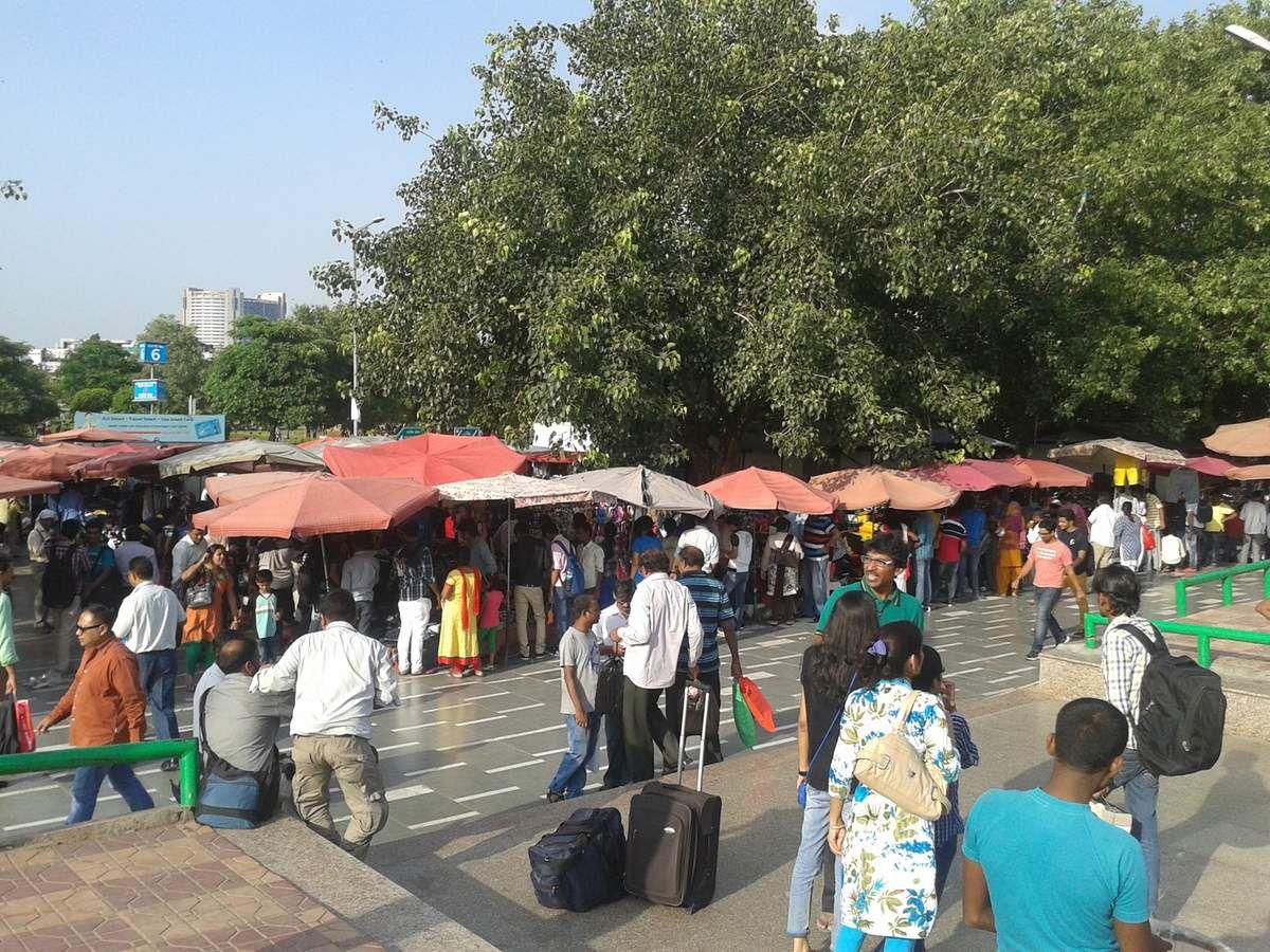 Un vrai marché à Delhi
