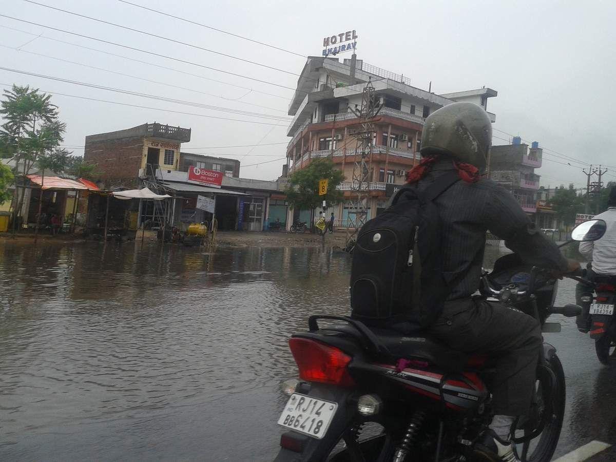 Inondations normales en période de mousson