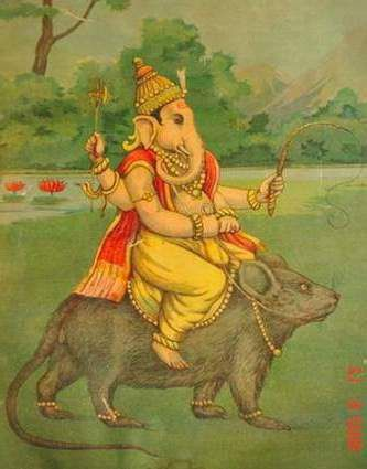 Ganesh et son rat. Source: magnetism.com