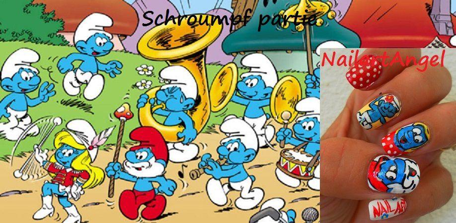 Nail art Schtroumpfant &#x3B;-)